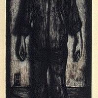 A Boy as a Lamp in a Dark Room